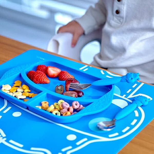 Marcus Marcus LUCAS BLUE HIPPO Cutlery / Utensil Set perfect kid friendly version of your utensils.