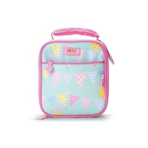 Penny Scallan Pineapple Bunting Lunchbox School Bag make it easty to split up food for recess with two compartments.