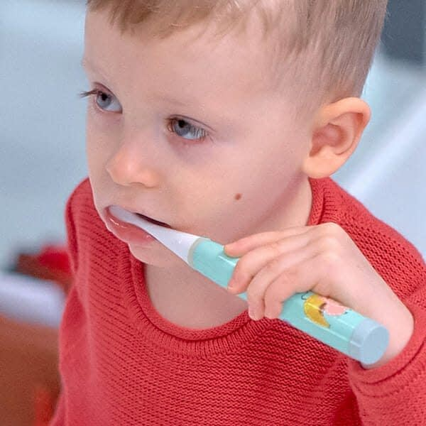 Marcus Marcus Soft Blue Kids Sonic Electric Toothbrush very convenient to use with very extra soft brushes.