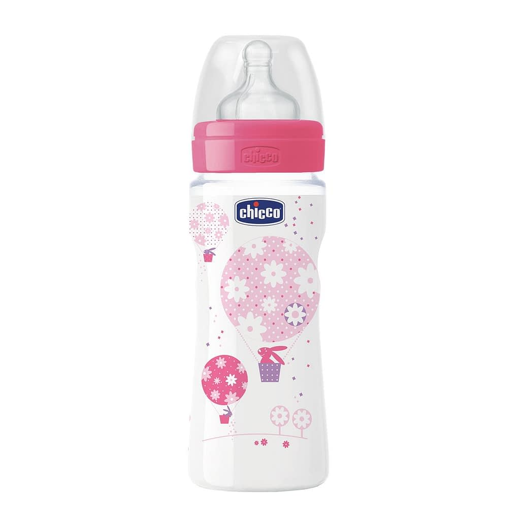 Chicco Nursing Bottle: Well-Being Silicone – 4m+ Teat 330ml