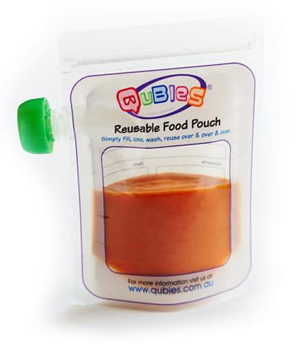 Qubies Reusable Food Pouch pack of 10